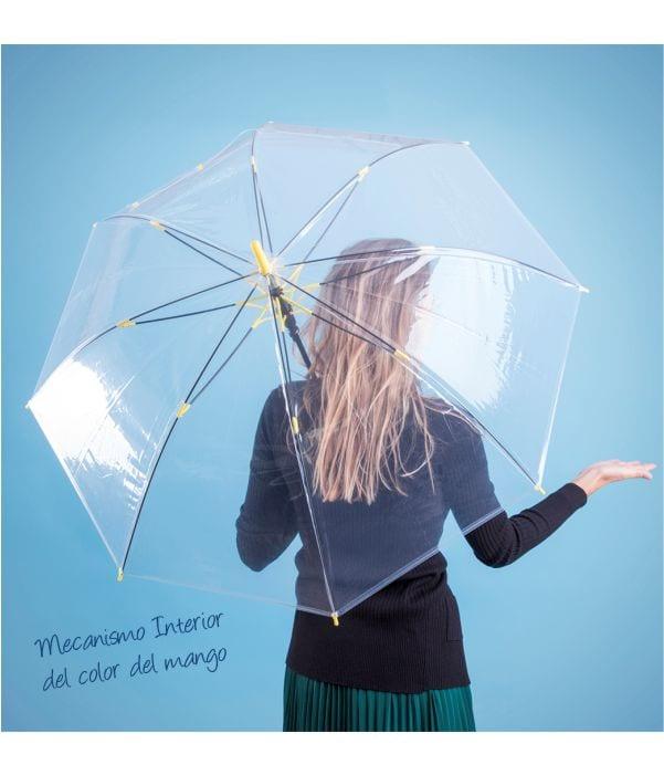 Paraguas Antiviento Transparente Modelo