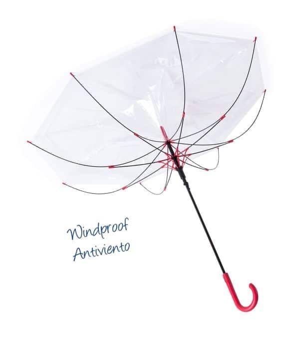 Paraguas Antiviento Transparente Windproof