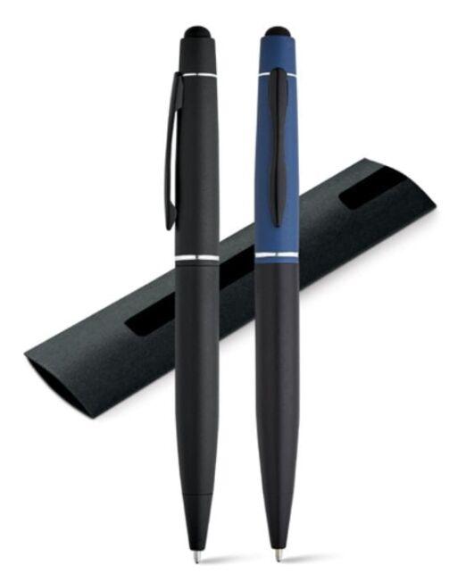 Bolígrafo Aluminio con touch publicidad. Colores