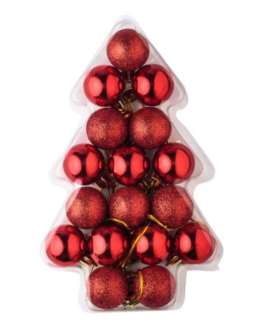 Set 17 Bolas Navidad Caja