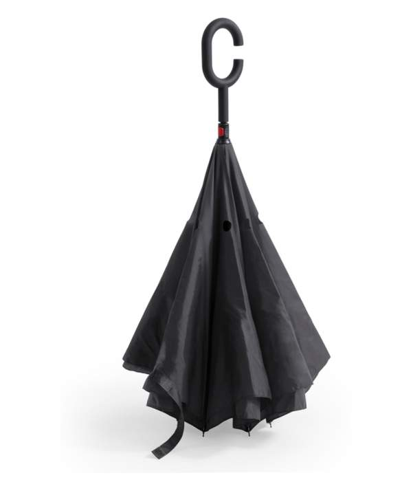 Paraguas Reversible Doble Capa negro