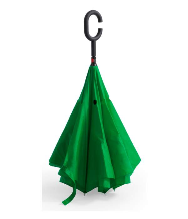 Paraguas Reversible Doble Capa Verde