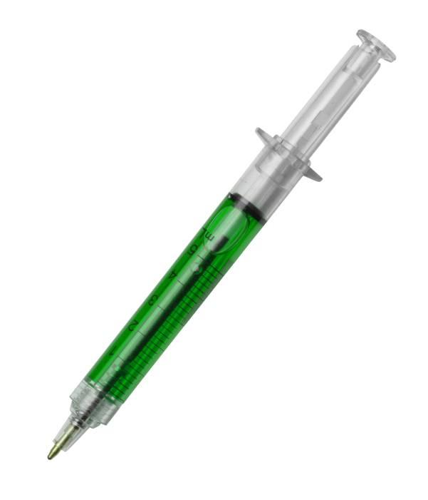 Bolígrafo Jeringuilla Personalizado Verde
