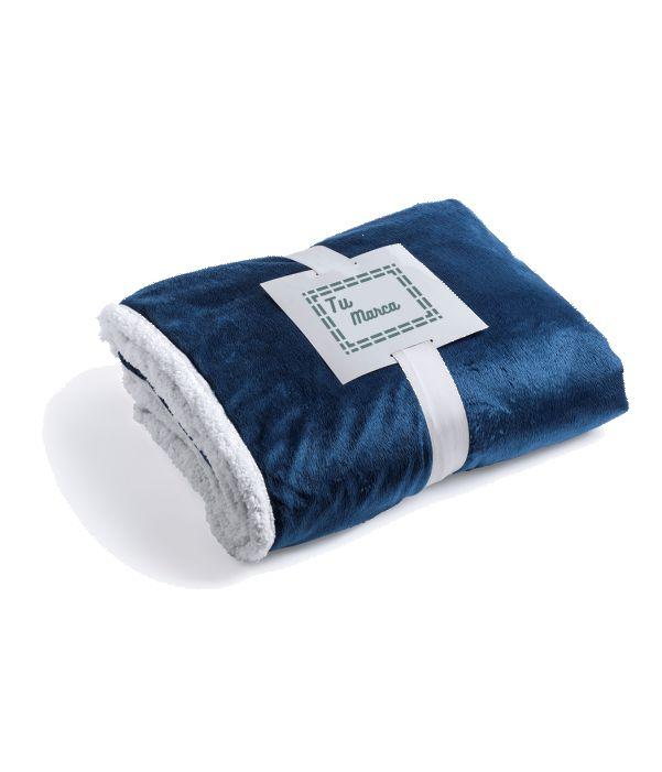 Manta Polar de Sofa Azul. Artículo Publicitario