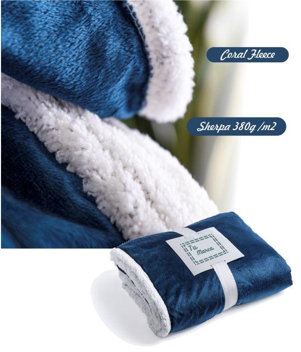 Manta Polar de Sofa. Artículo Publicitario