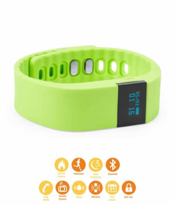 Pulsera de Actividad deportiva con correa de Silicona Verde
