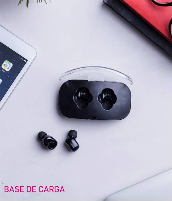 auriculares inalámbricos base de carga