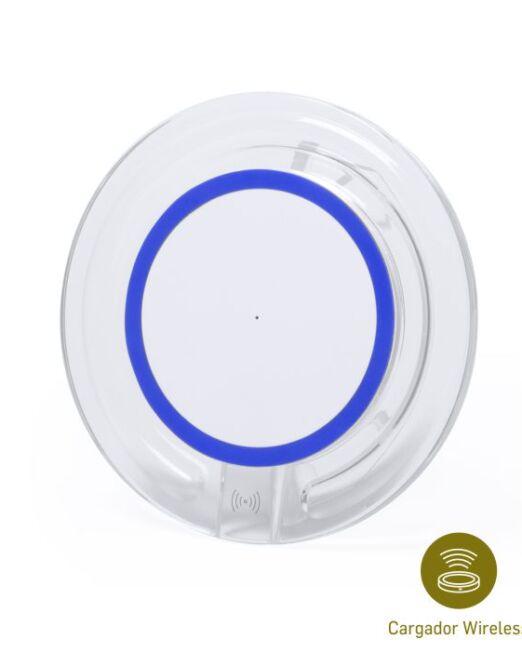 Cargador Inalambrico Movil Azul