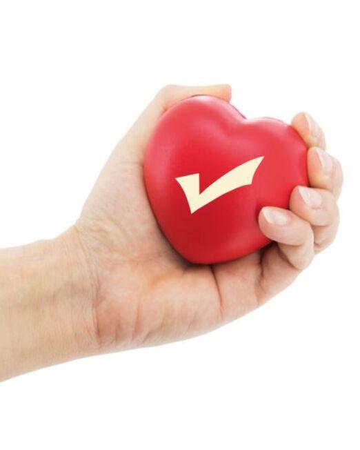 Antiestrés forma Corazón en una mano.