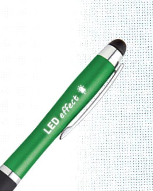 Bolígrafo Touch Led para promoción. Impactante bolígrafo para resaltar su marca sobre su competencia. Impacte con su publicidad promocional Detalle