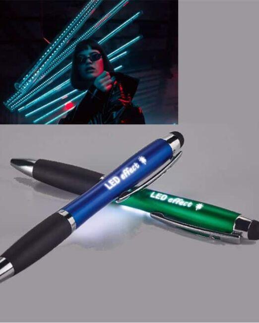 Bolígrafo Touch Led para promoción. Impactante bolígrafo para resaltar su marca sobre su competencia. Impacte con su publicidad promocional.