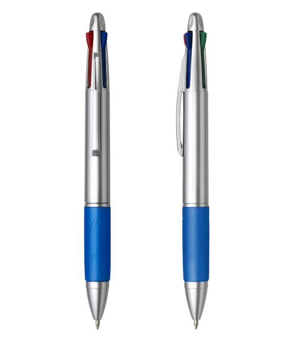 Bolígrafo con 4 tintas Azul. Artículo Publicitario