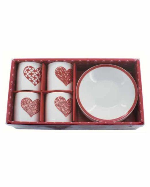 Juego de tazas San Valentín. Set de café