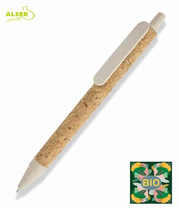 Bolígrafo Bio Personalizado beige. Artículo promocional