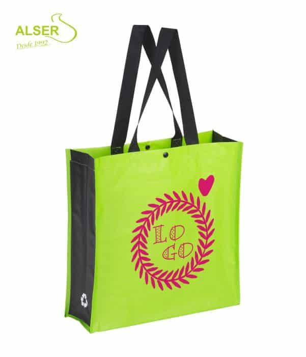 Bolsa Compra Resistente Verde. Publiregalo