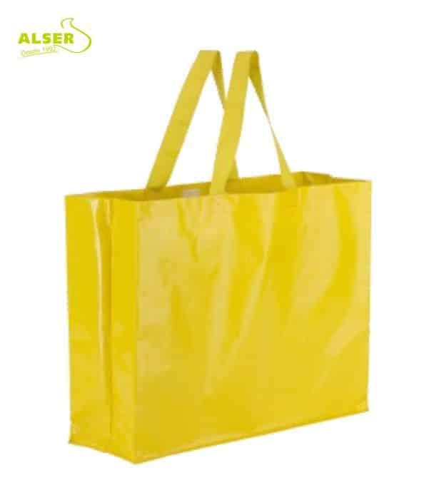 Bolsa Compra Alta Resistencia Amarillo . Artículos Publicitarios