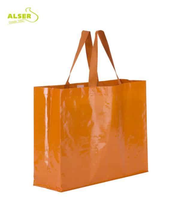 Bolsa Compra Alta Resistencia Naranja . Artículos Publicitarios