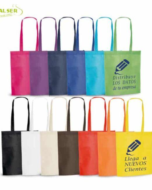 Bolsa Feria Non Woven Personalizada con tu Marca. 80 grs/m2, Terminación termosellada. Muchos Colores muy llmativos para publicidad empresarial. Artículo promocional