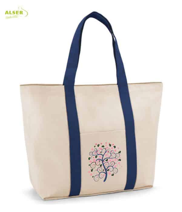 Bolsa Playa Bicolor Personalizable Azul. Regalo de Empresa