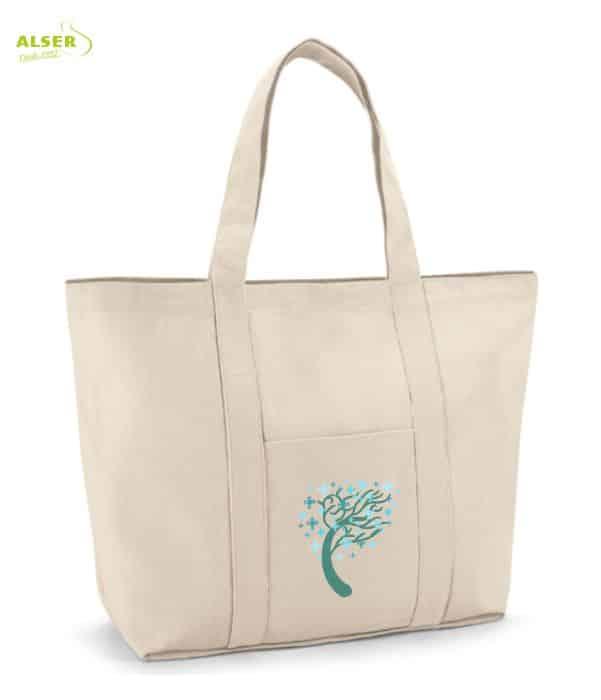 Bolsa Playa Bicolor Personalizable Beige. Regalo de Empresa