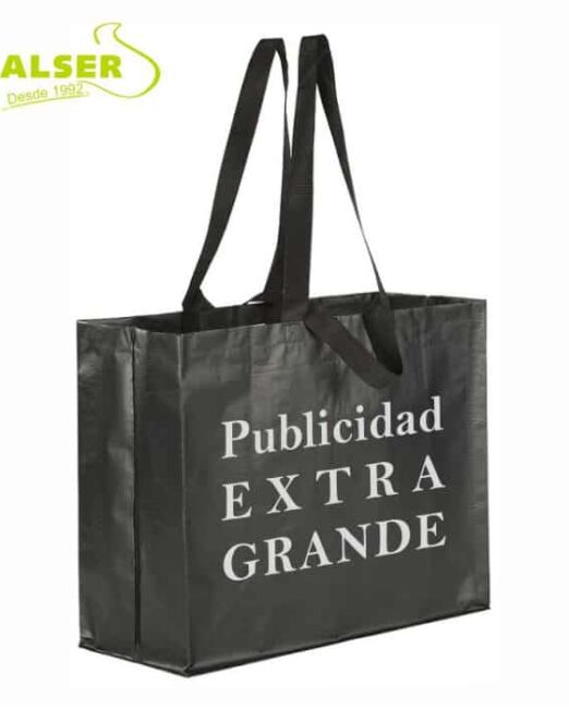 Bolsa Reutilizable Extra Grande personalizada Negra