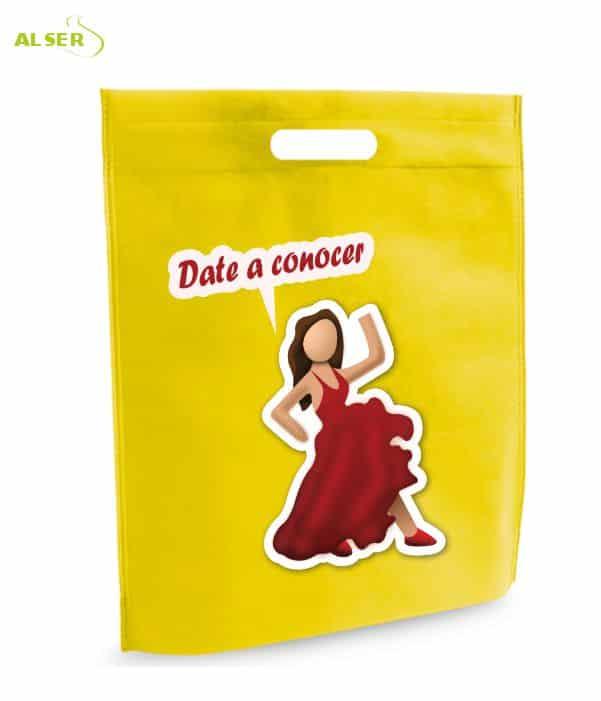 Bolsa para Feria Publicitaria Personalizada con tu Marca Amarillo. Regalos promocionales