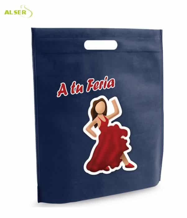 Bolsa para Feria Publicitaria Personalizada con tu Marca Azul Oscuro. Regalos promocionales