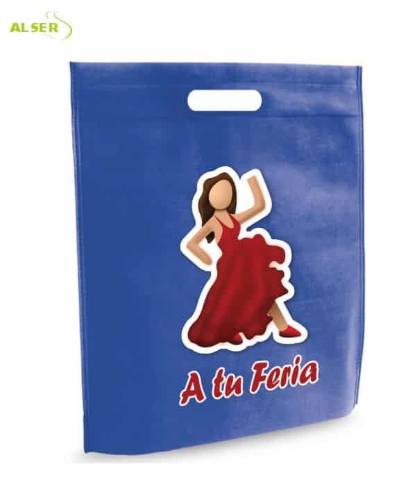 Bolsa para Feria Publicitaria Personalizada con tu Marca Azul. Regalos promocionales