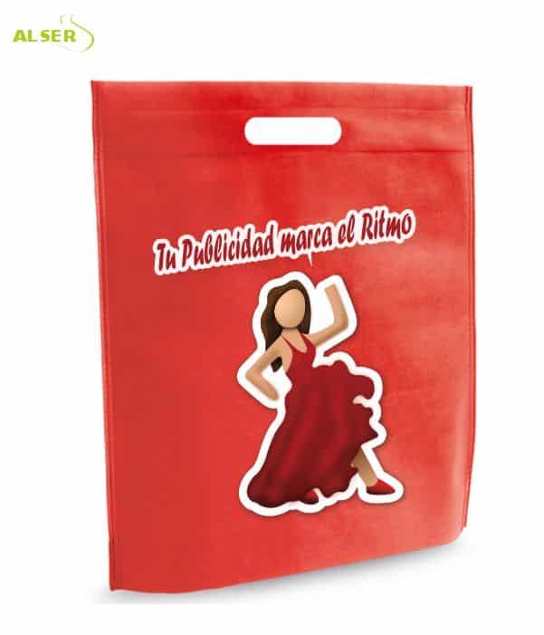 Bolsa para Feria Publicitaria Personalizada con tu Marca Rojo. Regalos promocionales