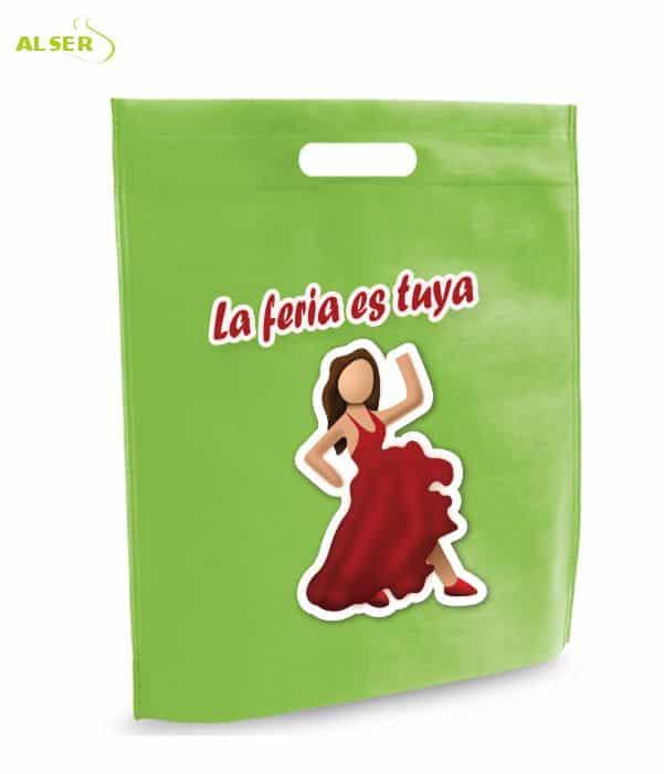 Bolsa para Feria Publicitaria Personalizada con tu Marca Verde. Regalos promocionales
