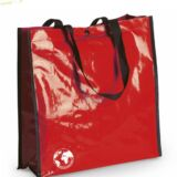 Bolsa Biodegradable Personalizada con clain de tu comercio Roja
