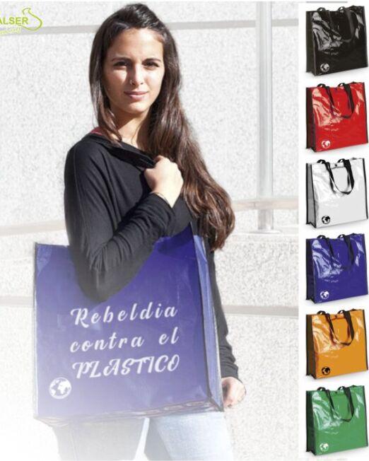 Bolsa Biodegradable Personalizada con clain de tu comercio Colores Variados