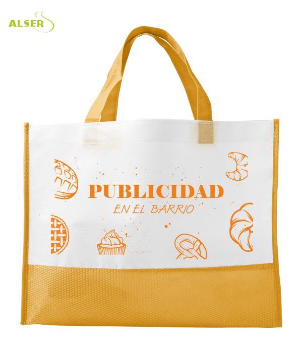 Bolsa Comercio Publicitaria Naranja