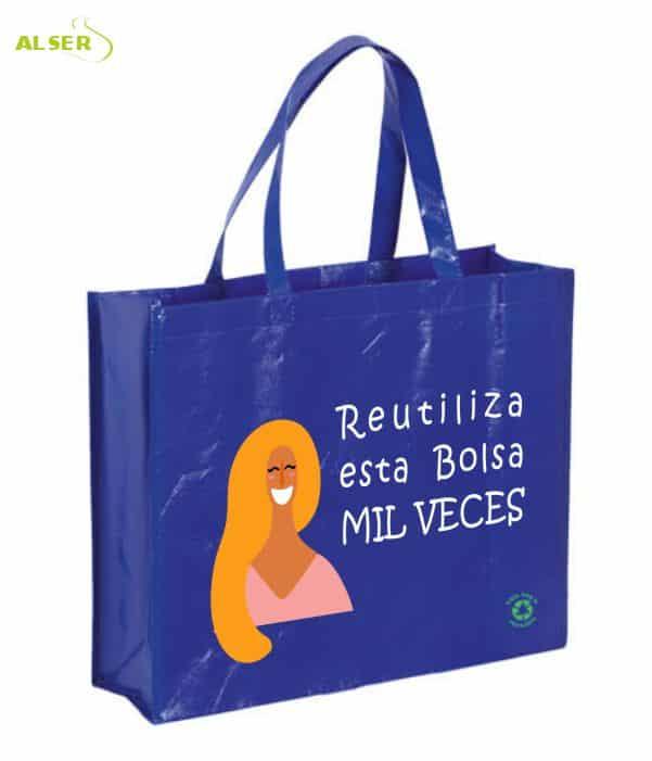 Bolsa Eventos Leon Azul. Bolsas Personalizadas