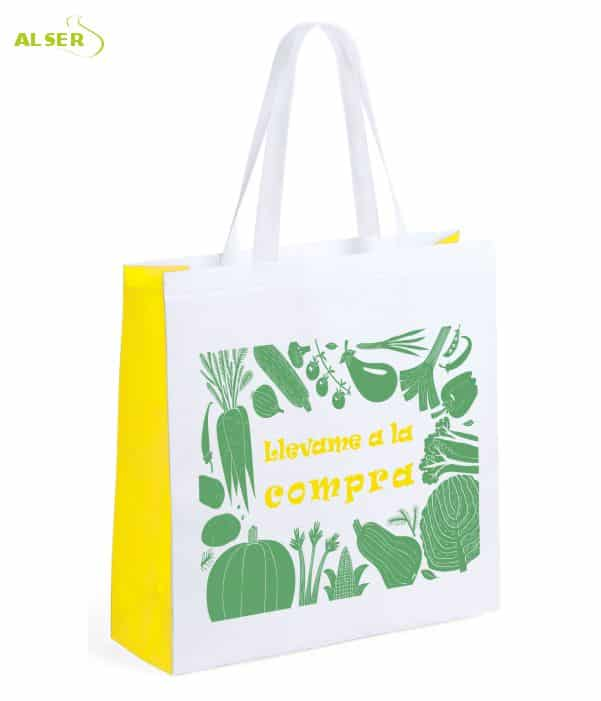 Bolsa Mercado Personalizada con tu Publicidad Amarilla