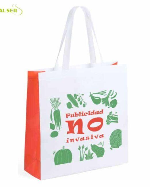 Bolsa Mercado Personalizada con tu Publicidad. Naranja