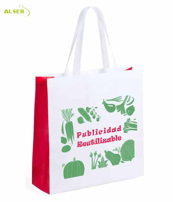 Bolsa Mercado Personalizada con tu Publicidad Roja