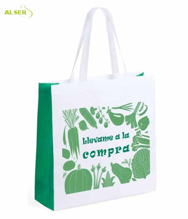 Bolsa Mercado Personalizada con tu Publicidad Verde