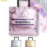 Bolsa Non-Woven Personalizada para publicidad. Colores Metalizados, rosa, dorado y plateado