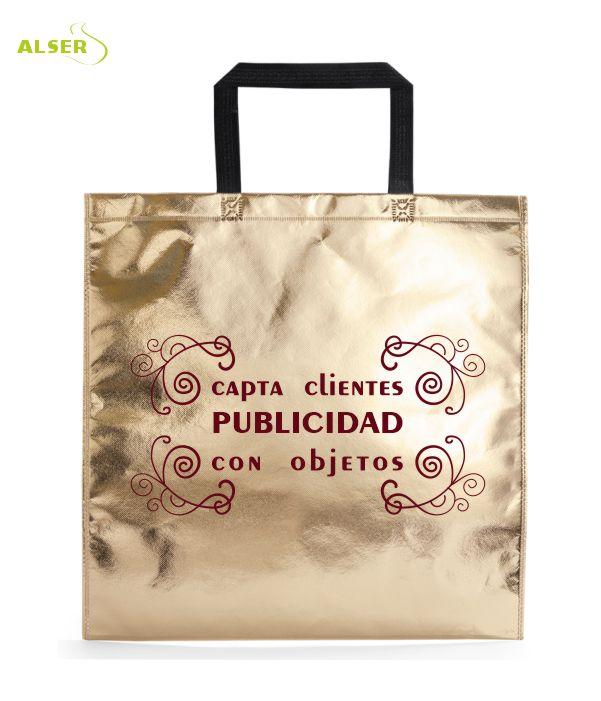 Bolsa Non-Woven Personalizada para publicidad Color Dorado