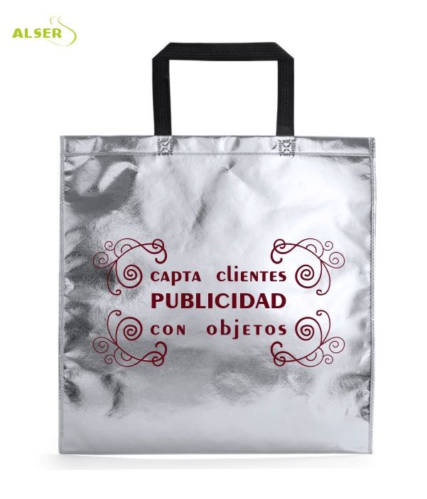 Bolsa Non-Woven Personalizada para publicidad Color Plata