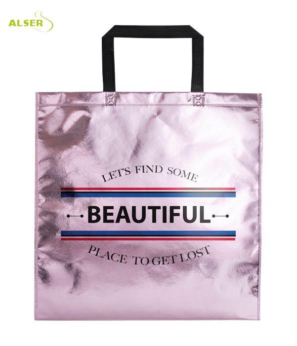 Bolsa Non-Woven Personalizada para publicidad Color Rosa