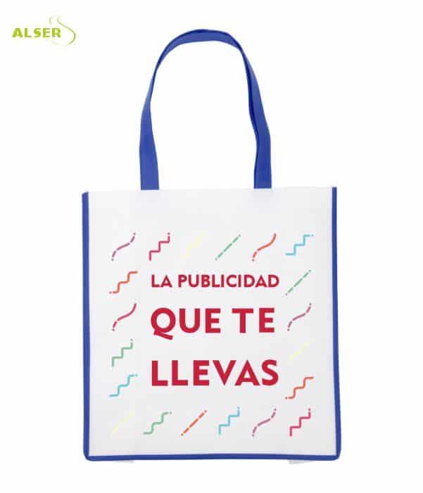 Bolsa De Super Publicitaria para merchandising. Azul