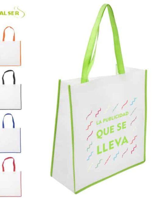 Bolsa De Super Publicitaria para merchandising. Cinco Colores