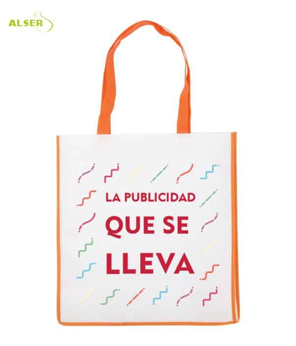 Bolsa De Super Publicitaria para merchandising. Naranja