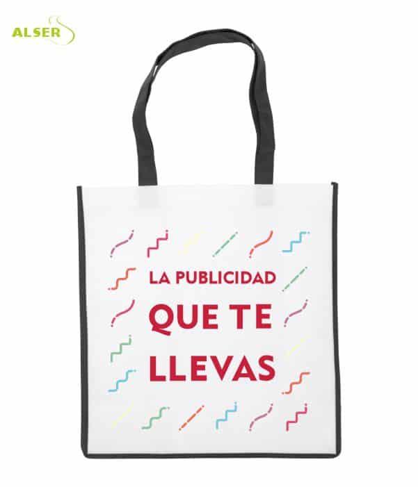 Bolsa De Super Publicitaria para merchandising. Negra