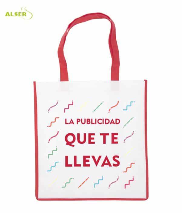 Bolsa De Super Publicitaria para merchandising. Roja