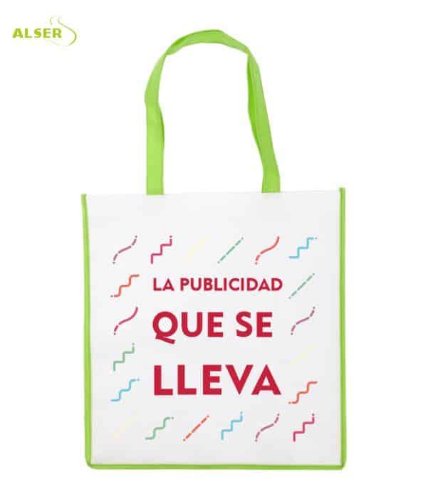 Bolsa De Super Publicitaria para merchandising. Verde