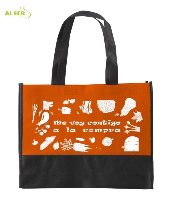 Bolsa de la Compra Publicitaria Naranja