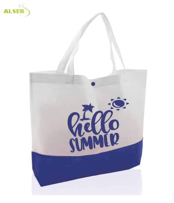 Bolso Publicitario de playa Azul/Blanco